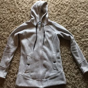 Women's gray semi fitted hoodie